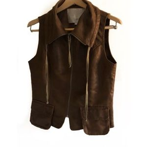 Miilla leather moto vest sleeveless